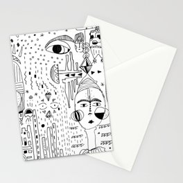 People watching people watching Stationery Cards
