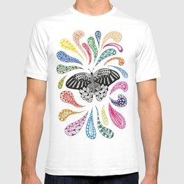 Mariposa con colores T-shirt