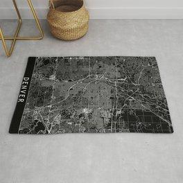 Denver Black Map Rug