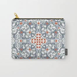 Kisses of love in a mandala design for Valentine's Day Carry-All Pouch