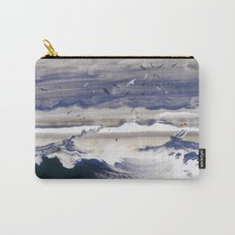 Stormy Sea by Peder Balke (1870) Carry-All Pouch