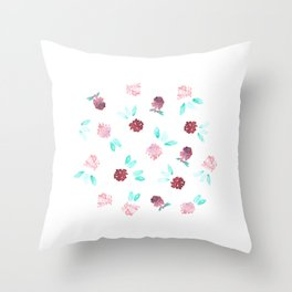 Clover Flowers Throw Pillow