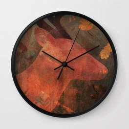Monarch of Autumn Wall Clock