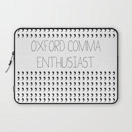Oxford comma Enthusiast, Grammar Love, Writing, Writer Laptop Sleeve