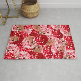 Tickle Me Pick Cream of Hearts Rug