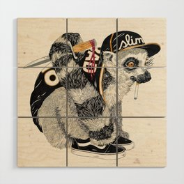 Hood Rat Wood Wall Art