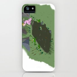 Long jump  competition. iPhone Case