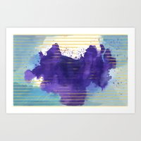 rorschach Art Prints featuring Rorschach by Sonia Garcia