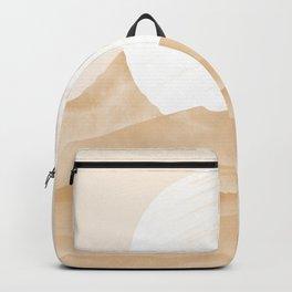The moon on desert mountains modern Backpack