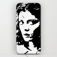 rocky horror picture show iPhone & iPod Skins featuring Janet Weiss (Rocky Horror Picture Show) by Blake Lee Ferguson