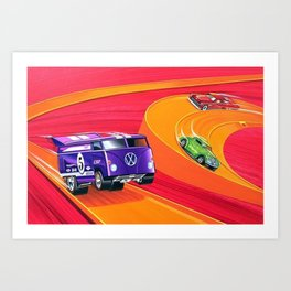 Vintage Hot Wheels Master Case Series 4 Poster No. 2 Art Print