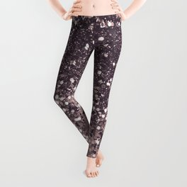 Sparkling Mauve Lady Glitter #3 #shiny #decor #art #society6 Leggings
