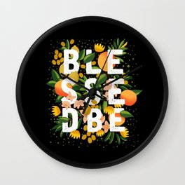 BLESSED BE BLACK Wall Clock