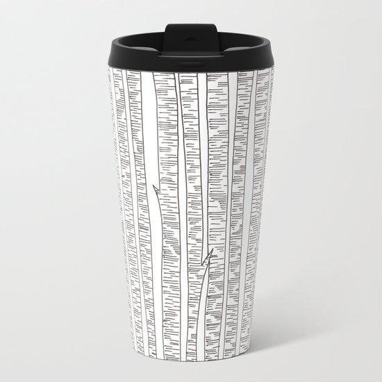 Lost In Stripes Metal Travel Mug