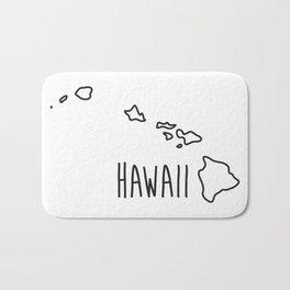 Hawaii Type Map Bath Mat
