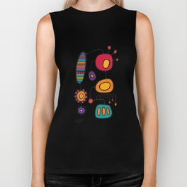 Feather Flower Chime in Color Biker Tank