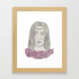 Festival girl Framed Art Print