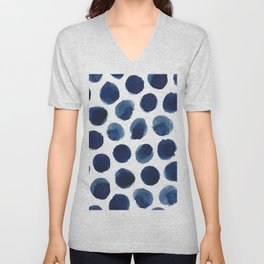 Watercolor polka dots Unisex V-Neck