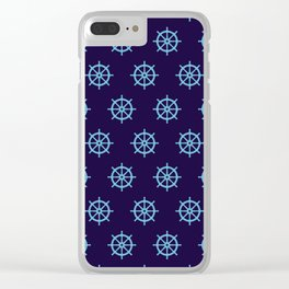 Nautical Seamless Collection 25 Clear iPhone Case