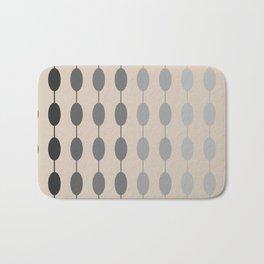Beads Monochromatic Minimalist Pattern in Gray and Putty Bath Mat