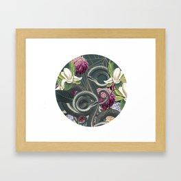 Tangled snakes Framed Art Print