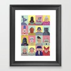 bobbies friends Framed Art Print