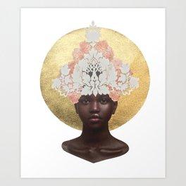 She Blooms: Hydrangeas your Highness Art Print