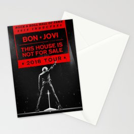 bon jovi this house is not for sale 2018 tour Stationery Cards