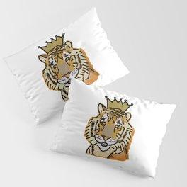 Tiger wearing Crown Pillow Sham