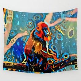 Mandrill Dreams Wall Tapestry