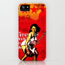 Everybody Wants To Rule The World iPhone Case