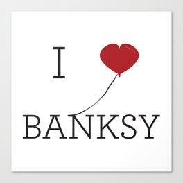 I heart Banksy Canvas Print