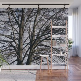 Stained Glass Tree Wall Mural