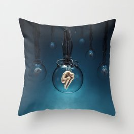 Ripe for the Harvest / Sci-fi human clones Throw Pillow