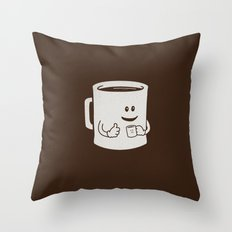Mugged. Throw Pillow