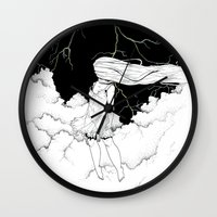 storm Wall Clocks featuring Storm by  Louie