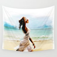 thailand Wall Tapestries featuring Thailand by tatiana-teni