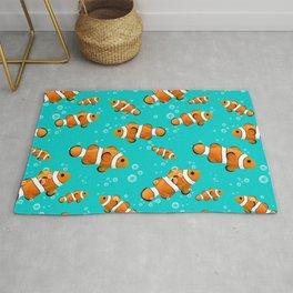 Tropical Clownfish Pattern Rug
