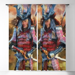 KEIKAISHIN Japanese Samurai Japanese Castle Fortress Blackout Curtain