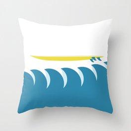 Surf's Up.  Throw Pillow