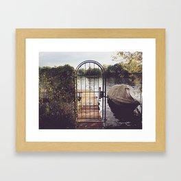 On the seaside Framed Art Print