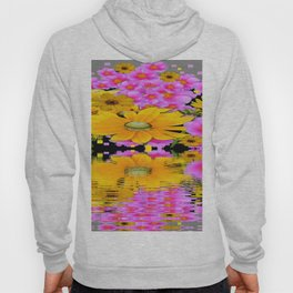 PINK-YELLOW FLORALS REFLECTED WATER ART Hoody