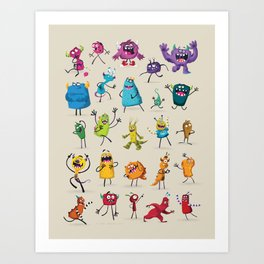 Fruity Monsters Set 2 Art Print