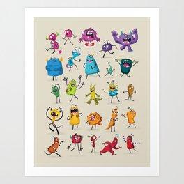 Fruity Monsters Set 2 Art Print