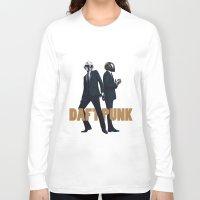 daft punk Long Sleeve T-shirts featuring Daft Punk by joshuahillustration