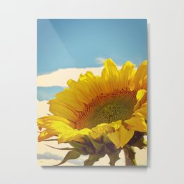 Lucy in the Sky with Sunflower Metal Print