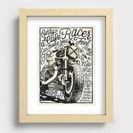 Feel the Road with a Cafe Racer 2 Recessed Framed Print