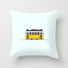Lisbon 28 Tram Throw Pillow