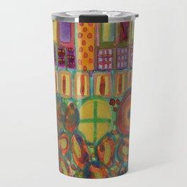 Decorated and illuminated House  Travel Mug
