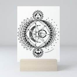 Sun Moon and Stars Mini Art Print